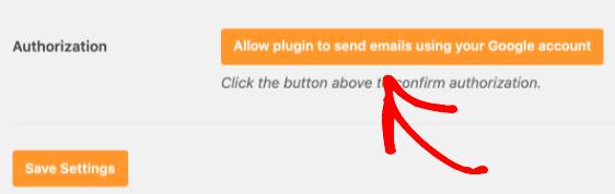 Autorizza il plugin
