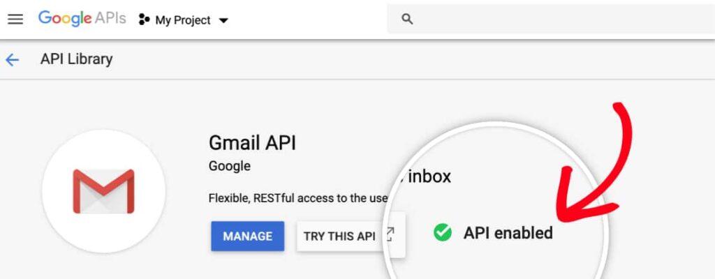 Abilitare API Gmail