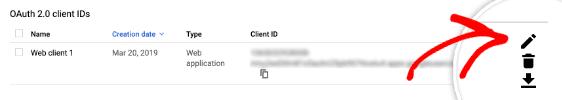 Client ID e Secret Matita