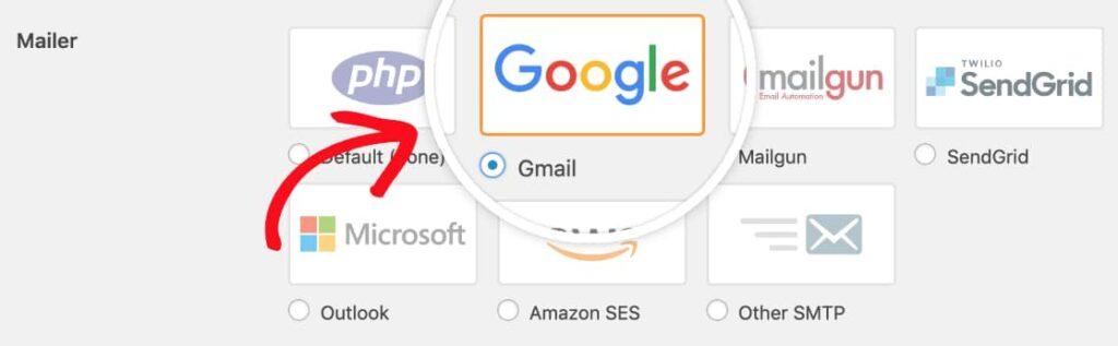 Gmail in kubito SMTP plugin