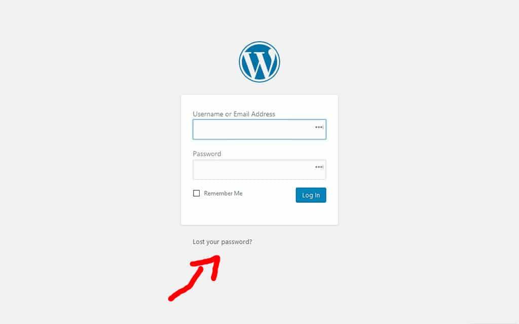 Wordpress Password Dimenticata