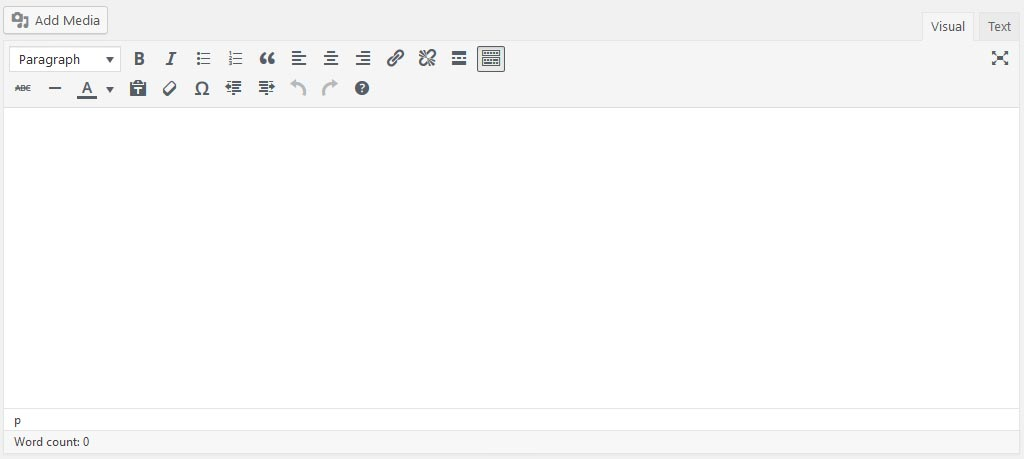 Editor Post WordPress